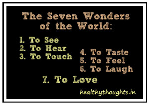 inspirational quotes-thought for the day-the seven wonders of world-