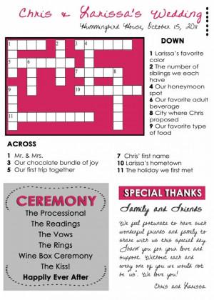 crossword puzzle idea
