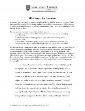 How to write a block quote in mla