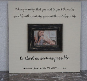Wedding Love Quote Spending your Life Personalized Picture Frame Oak ...