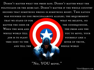 Captain America You Move Quote High Resolution Wallpaper, Free ...