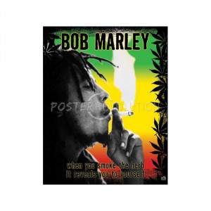 Bob Marley Smoke the Herb Quote Music Poster Print - 16x20