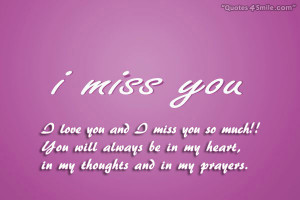 Love You and I Miss You Quotes