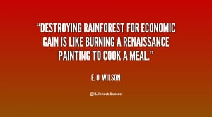 Quotes About the Tropical Rainforest