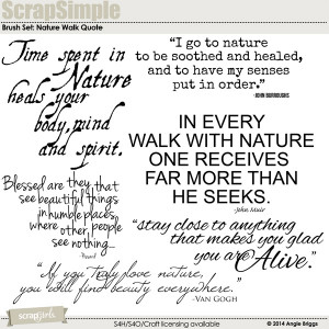 brush set nature walk quotes nature layout by angie briggs beauty ...