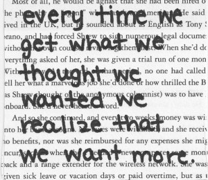 Written or spoken words by the one and only, John Green.