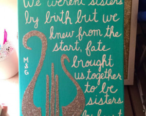 Sorority Sister Quote Sisters By He art Glitter Canvas ...