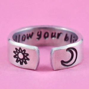 Follow Your Bliss Ring, Joseph Campbell Quote Ring, Words Of Wisdom ...