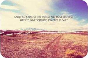 Sacrifice Quotes: