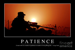 Patience Inspirational Quote Photograph