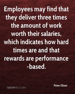 Employees may find that they deliver three times the amount of work ...