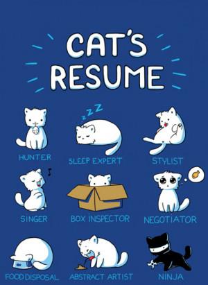 cat resume 218x300 Cat Humor: Cats Resume