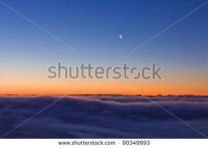 Beautiful Clouds Scene Over