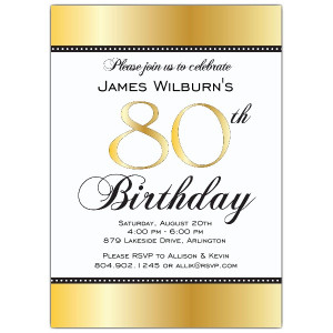 80th Birthday Invitations Unique Offerings from PaperStyle