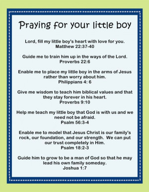 Praying for Your Little Boy - Printable