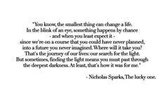 quote nicholas sparks the lucky one more quotes nicholas quotes worthy ...