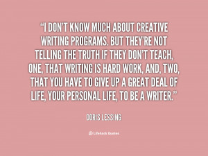 Creative writing quote