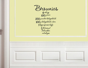 Brownies-font-b-recipie-b-font-Vinyl-wall-decals-quotes-sayings-words ...