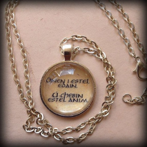 Lord of the Rings Elvish Quote Pendant Necklace Ónen by naiteiru, $16 ...