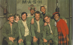 "MASH 4077 staff, left to right – Frank Burns, Margaret ""Hotlips ..."