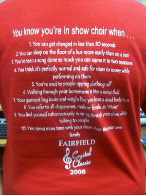 Funny Show Choir Shirts