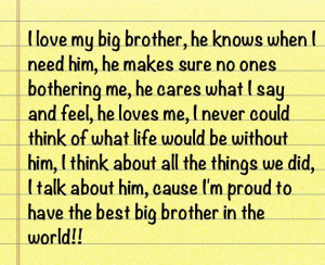 Love My Big Brother Quotes Tumblr I love my big brother