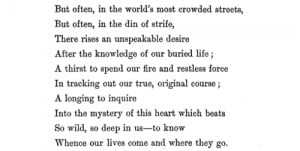 "Matthew Arnold, ""The Buried Life"""