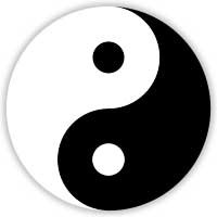 The ancient Chinese yin-yang symbol represents the balance of yin ...