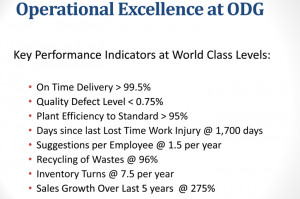 Operational Excellence Goals