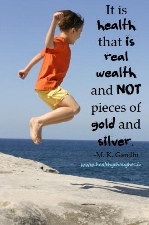 Health and Wealth Quotes