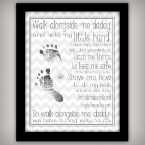 Walk with Me, Daddy - 8x10 DIGITAL Art Print - INSTANT DOWNLOAD ...