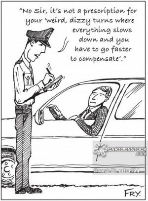Funny Speeding Ticket Cartoons