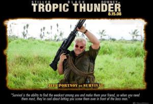 ... Tropic Thunder, Джек Блэк, Jack Black, пулемет