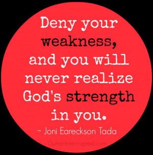 This quote by Joni Eareckson Tada is an encouragement to accept our ...