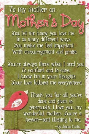 Mothers Day Tribute Mother Healthythoughts Inspirational