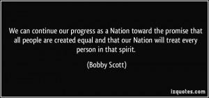 More Bobby Scott Quotes