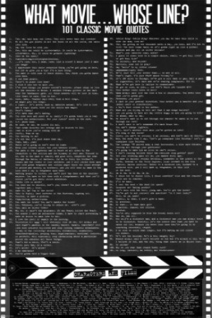 Movie Quotes (contains some profanity) Poster