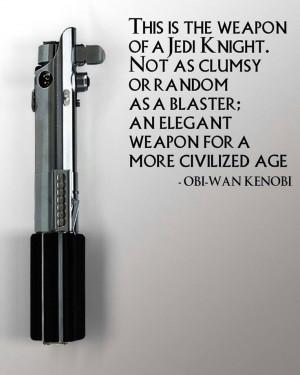 Obi-Wan Kenobi quote #lightsaber