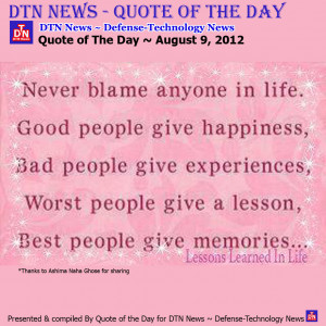 Quote of The Day August 9, 2012 Thursday Quotes Of The Day