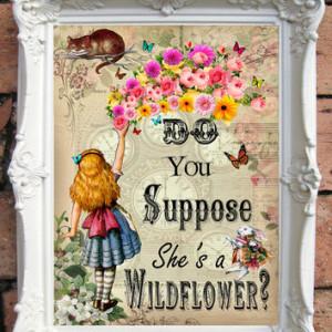 ALICE in Wonderland Quote Art Print Alice in Wonderland Decoration ...