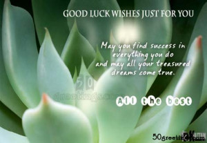 Genuine success comes only to those who are ready for it.Good Luck