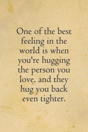 Love Quotes About Hugs