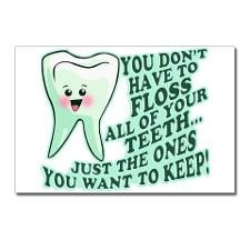 Funny Dentist Quote Postcards (Package of 8) for