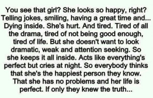 guess this is what my life is :'(, but looks can be deceiving. I ...