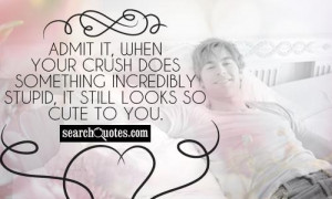 Admit it, when your crush does something incredibly stupid, it still ...