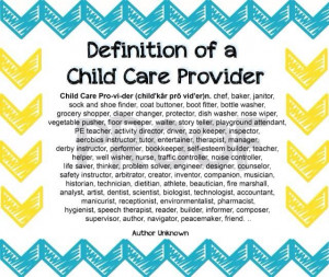 Definition of a child care provider