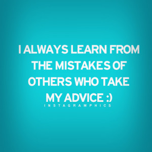 Always Learn From My Mistakes Quote Graphic