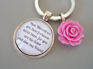 Sisters Quote Gift keyring, Sister In Law gift, bridesmaid gift ...