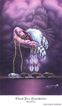 art expression of gratitude by Native American artists Anjanette Elk