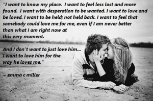 What I Want...
